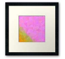 Abstract 2,pink,yellow,polygonal art,modern, trendy,contemporary Framed Print