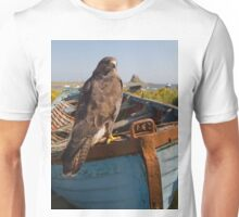 Common Buzzard on Lindisfarne Unisex T-Shirt