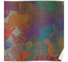 Abstract Subdued Colors 1 Poster