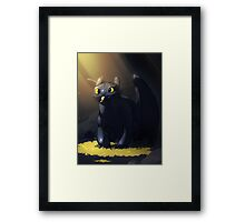 Toothless In A Cave Framed Print
