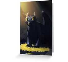 Toothless In A Cave Greeting Card