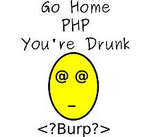 Drunk PHP Photographic Print