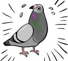 Frantic Pigeon Friend by ProfessorBees