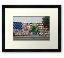 Hulk and America Framed Print