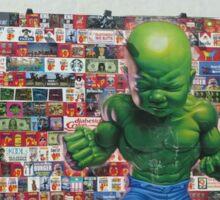 Hulk and America Sticker