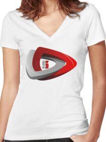 Dota 2 Simplete Logo Shirt Women's Fitted V-Neck T-Shirt
