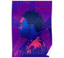 Gambino Neon Lights Poster