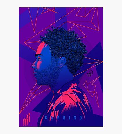 Gambino Neon Lights Photographic Print