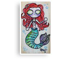 Deathly Mermaid Canvas Print