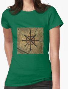 sidewalk compass Womens Fitted T-Shirt