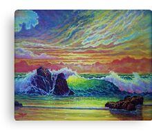 Red Skies at Sunset Canvas Print