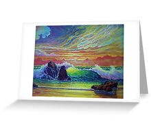 Red Skies at Sunset Greeting Card