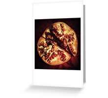 Decaying Pomegranate Greeting Card