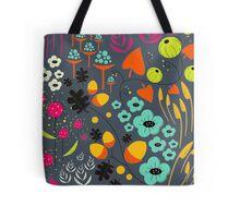 Retro Florals Tote Bag
