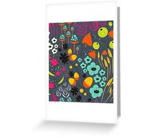 Retro Florals Greeting Card