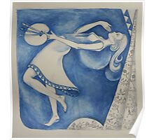 The (Woman) Painter: to the moon (after Chagall) Poster