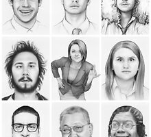 Workaholics Portraits Art  by OlechkaDesign