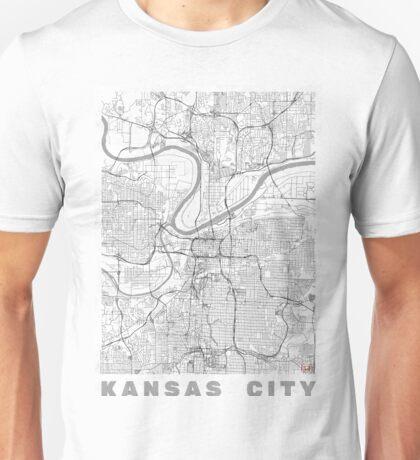 Kansas City Map Line Unisex T-Shirt