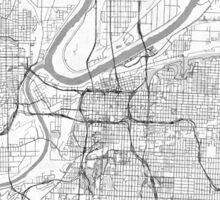 Kansas City Map Line Sticker