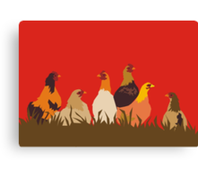 chooks Canvas Print