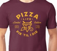 Pizza Life - Gold Print Unisex T-Shirt