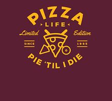 Pizza Life - Gold Print Unisex T-Shirt