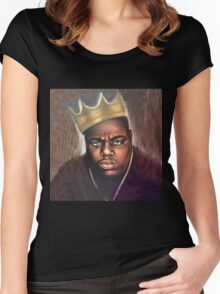 Biggie Notorious Big Women's Fitted Scoop T-Shirt