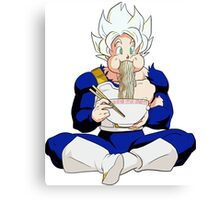 Goku eating Noodles - DBZ Canvas Print