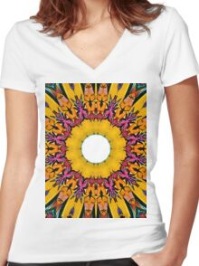Boho inspiration Women's Fitted V-Neck T-Shirt