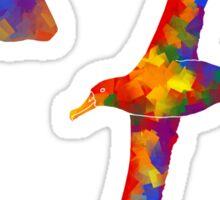 Rainbow Albatross Sticker Set Sticker