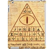bill cipher page iPad Case/Skin