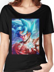 Goku Super Saiyan Blue - DBZ Women's Relaxed Fit T-Shirt