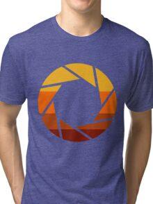70s Modern Portal Aperture Logo (Hot) Tri-blend T-Shirt