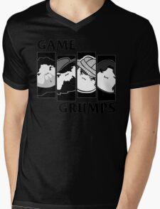 Black Flag Grumps Mens V-Neck T-Shirt