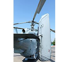 Attack helicopter rear view Photographic Print