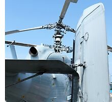 Attack helicopter rear view by mrivserg