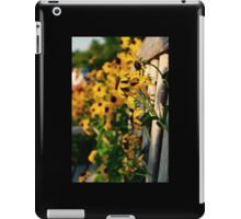 Flowers through the Bench iPad Case/Skin