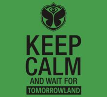 Keep Calm and wait for Tomorrowland festival - Black Baby Tee
