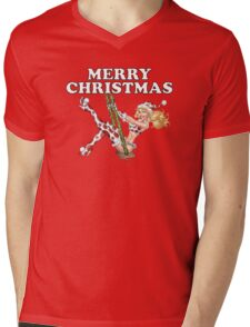 Mrs Claus -  Girl Pinup Variant Mens V-Neck T-Shirt