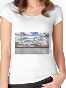 London City Airport Women's Fitted Scoop T-Shirt