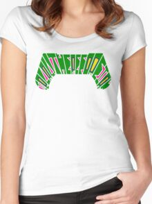 I PLAY THEREFORE I AM (green) Women's Fitted Scoop T-Shirt