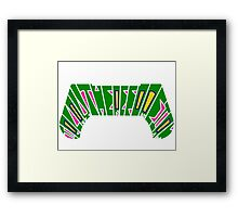 I PLAY THEREFORE I AM (green) Framed Print