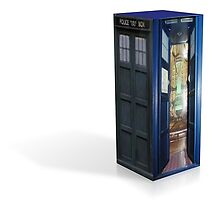 3d render of TARDIS by LokiLaufeysen