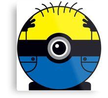 Minion Pokemon Ball Mash-up Metal Print