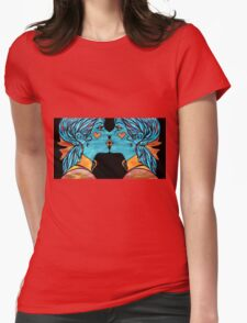 Looking Glass Kisses Womens Fitted T-Shirt