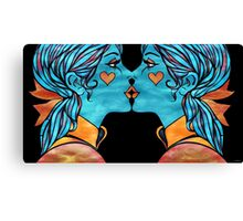 Looking Glass Kisses Canvas Print