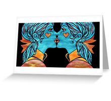 Looking Glass Kisses Greeting Card