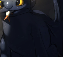Toothless In A Cave Sticker