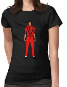 Thriller Red Jackson Womens Fitted T-Shirt