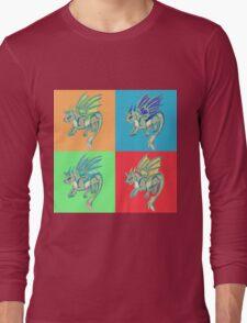 Pop Art Wolf Dragon Long Sleeve T-Shirt